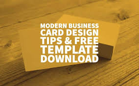 free template for business cards modern business card design tips free template download