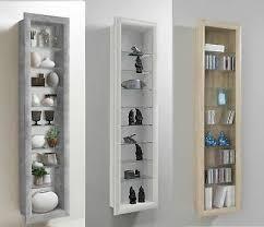 bora wall mounted glass wood display