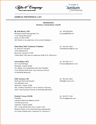 Reference Samples For Resume Sample Character Reference In Resume New References for Resume 50