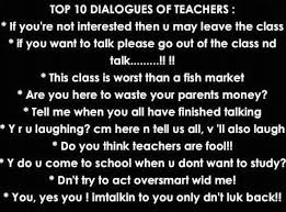 write dialogue essay your school