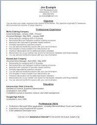 Excellent Decoration Printable Resume Samples Printable Sample