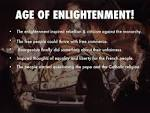 Age Of Enlightenment and French Revolution
