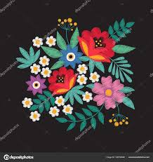 Floral Embroidery Designs Vector Bouquet Of Garden Flowers Floral Embroidery Designs Fashion