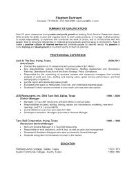 Sample Resume For Restaurant Manager Sample Resume Of Restaurant Manager Beautiful Free Sample Resume for 22