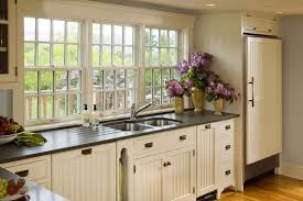 white country kitchen designs. Fine White Classic Country Kitchen Design With Wooden Flooring  Charming White  Designs Black Countertops Ideas Intended
