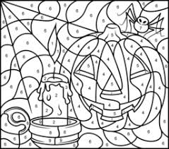 Small Picture Crafty Inspiration Halloween Coloring Pages Hard All Color By