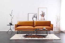 theo top grain leather sofa furniture
