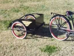 custom rat rod bicycle with matching trailer youtube
