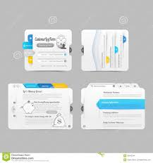 Infographic Website Template Business Website Template Design Menu Navigation Elements With Icons