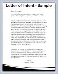 Sample Letter Of Intent Template Business