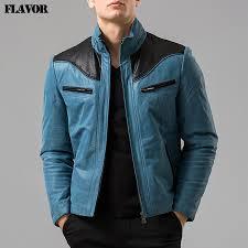 2019 s 6xl men s pigskin blue real leather jacket genuine leather jacket winter motorcycle jackets men coat biker coats from suspender 210 5 dhgate com