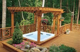hot tub deck. Deck And Hot Tub Design Ideas