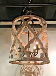 rustic french large boho anthropologie style white washed wood intended for chandelier designs 16