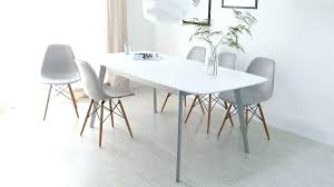 modern white dining table grey and extending 8 e5