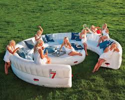 inflatable pool furniture. Massive Inflatable Outdoor Party Sofa Seats 30 Guests Oversized Chair And Ottoman Set Pool Furniture L
