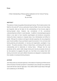 essay a new understanding of stress and the implications for our essay a new understanding of stress and the implications for our cultural training paradigm pdf available