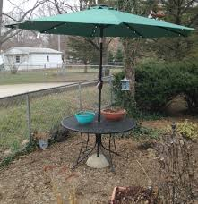 picture of patio umbrella stand the use what you have method