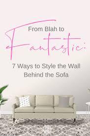 wall behind the sofa