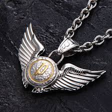 police necklaces 20733psg02 double wings gold logo pendant