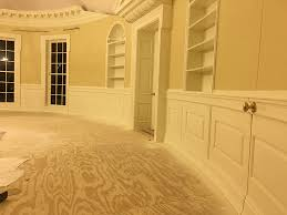 oval office design. wainscoting side view in oval office replica by design llc n