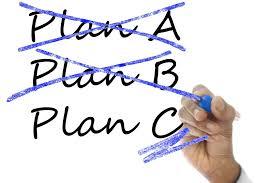 Plan A, Plan B, Plan C