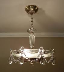 vintage chandelier crystal beaded d 1930 s antique victorian glass hanging ceiling light fixture rewired