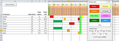 Tracking Employee Time Off Excel Template Free Excel Tool For Managing Employee Vacations