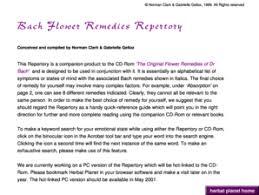 Bach Flower Remedies Chart Flower Essence Repertory Pdf Fill Online Printable
