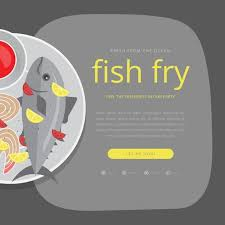 Friday Fish Fry Seafood Invitation Template Stock Images