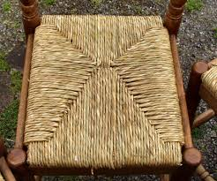 a rush seat woven in a slightly diffe pattern