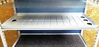 hydro tray hydroponic grow flood 4x4 reservoir size