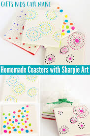 gifts ideas kids can make coasters with sharpie art great for fathers