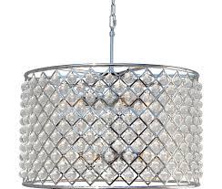crystal drum chandelier chrome finish cassiel round
