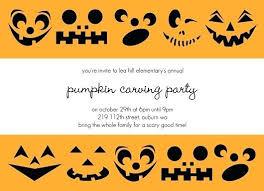 Pumpkin Invitations Template Pumpkin Invitation Template Pumpkin Carving Party Invitation And