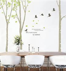 birch tree wall decal nursery wall