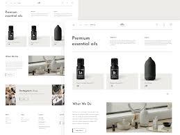 Essential Oil Website Design E Commerce Essential Oils By Natallia Melekhavets On Dribbble