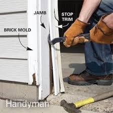 garage door stop moldingFixing Garage Door Bottom Seal  The Family Handyman