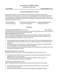 contract compliance resume human resources manager resume example service