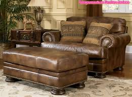 fine decoration ashley furniture leather sofas attractive inspiration classic brown sofa and ottoman