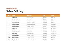 excel call log printable call log templates
