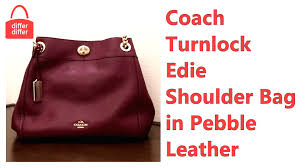 Coach Turnlock Edie Shoulder Bag in Pebble Leather 36855