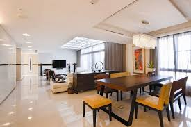 modern living room white. Sleek Modern Living Room White Minimal Apartment : Nice Wooden Dining Table With
