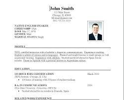 Document Format Simple Resume Template Download Curriculum Vitae