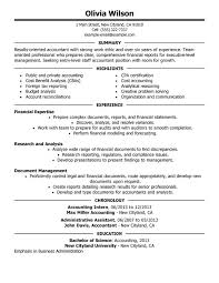 staff accountant resume by olivia wilson resume for accountant