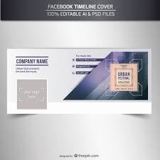 facebook timeline cover vector free vector