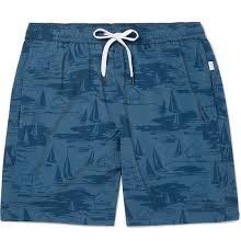 Charles Mid Length Printed Swim Shorts