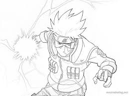 Looking for some fun coloring pages for your kid? Naruto Coloring Pages Kakashi Coloring Pages Printable In 2021 Kakashi Chidori Kakashi Drawing Naruto Sketch Drawing