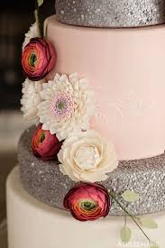 Edible Sequins Gumpaste Flowers Wedding Cake Ashlee Marie Real