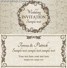 Wedding Invitation Vector Free Download At Getdrawings Com