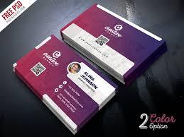 business card tamplate creative business card template psd set psdfreebies com